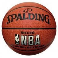 Мяч для баскетбола - SPALDING NBA SILVER INDOOR/OUTDOOR, фото 1