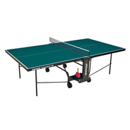 Теннисный стол для помещения - DONIC INDOOR ROLLER 600, складной, зеленый, фото 1