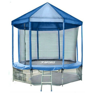 Батут каркасный, уличный - OPTIFIT LIKE 12ft, с сеткой, с лестницей, крыша, нагрузка 150 кг, фото 1